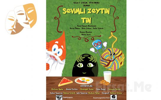 Çocuklarınız İçin 'Sevimli Zeytin Tin' Tiyatro Oyunu Bileti