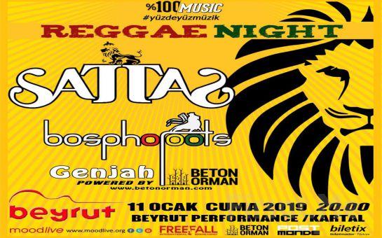 Beyrut Performance Kartal Sahne'de 11 Ocak'ta Sattas Reggae Night Konser Bileti