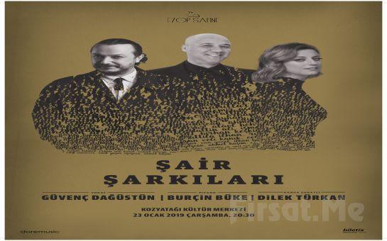 Kozyatağı Kültür Merkezi'nde 23 Ocak'ta Dilek Türkan ile 'Şair Şarkıları' Konser Bileti