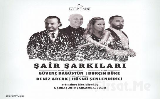 Artısahne'de 6 Şubat'ta Deniz Arcak ve Hüsnü Şenlendirici ile 'Şair Şarkıları' Konser Bileti