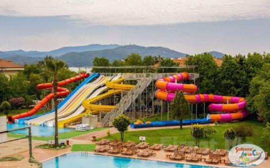 Sultans Aquacity Fethiye'de Tüm Gün Aquapark Kullanımı ve 2019 Sezonu Üyelik Fırsatı