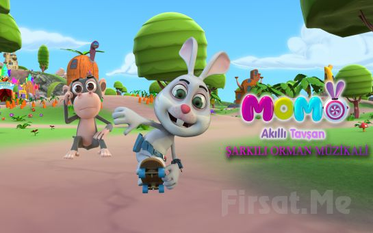 Sevilen Çizgi Dizi Akıllı Tavşan Momo Müzikli Gösteri Bileti