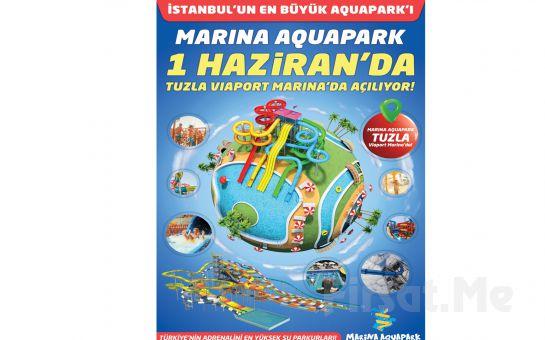 Tuzla Marina Aquapark Waterland'de Giriş + Hamburger veya Pizza Menü ve Gün Boyu Sınırsız Eğlence