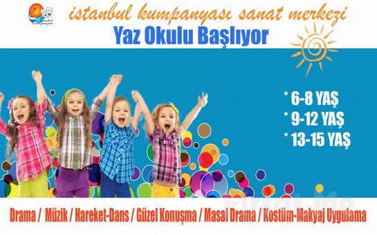 İstanbul Kumpanyası'ndan Çocuklar İçin 1 Aylık Drama, Müzik, Dans, Güzel Konuşma, Masal Drama, Kostüm - Makyaj Uygulama Eğitimleri Yaz Okulu