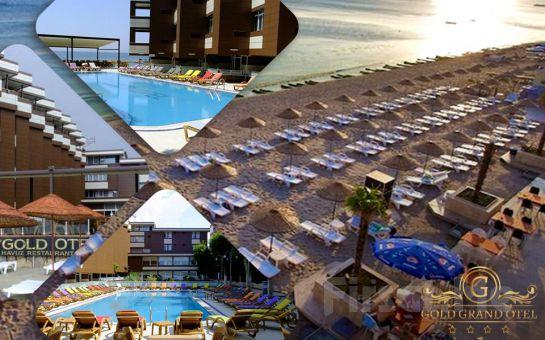Denize Sıfır Kumburgaz Grand Gold Hotel'de İki Kişilik Konaklama ve Kahvaltı