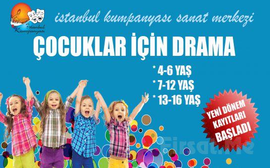 Çocuğunuzun Yeteneklerini Keşfedin İstanbul Kumpanya'sından Çocuklar İçin 1 Aylık Drama ve Tiyatro Eğitimi 400 TL yerine 200 TL
