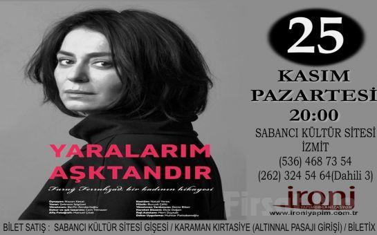 Nazan Kesal'ın Performansıyla Bir İsyanın Sesi 'Yaralarım Aşktandır' Tiyatro Oyunu Bileti