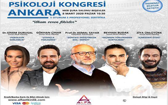 'İlham Veren Fikirler' Ankara Psikoloji Kongresi Katılım Bileti