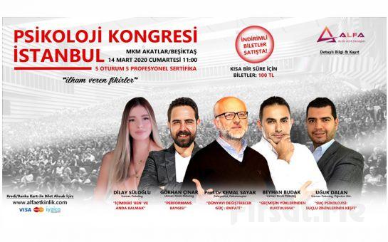 'İlham Veren Fikirler' İstanbul Psikoloji Kongresi Katılım Bileti