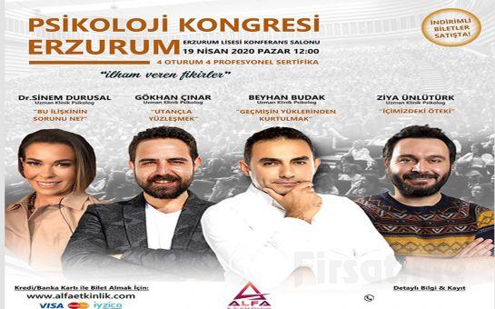 'İlham Veren Fikirler' Erzurum Psikoloji Kongresi Katılım Bileti