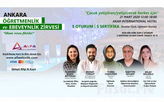 'İlham Veren Fikirler' Ankara Öğretmenlik ve Ebeveynlik Zirvesi Katılım Bileti