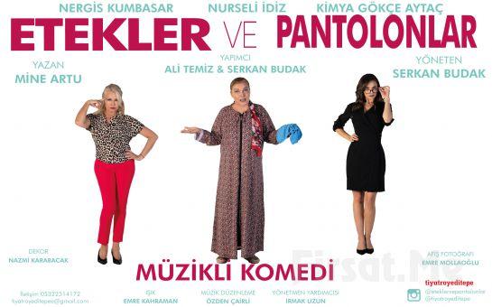 Nurseli İdiz ve Nergis Kumbasar'ın Usta Oyunculuklarıyla 'Etekler ve Pantolonlar' Tiyatro Oyunu Bileti