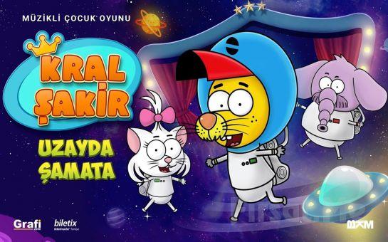 Çocuklarınızın Severek İzleyeceği Macera Dolu 'Kral Şakir - Uzayda Şamata' Tiyatro Oyunu Bileti