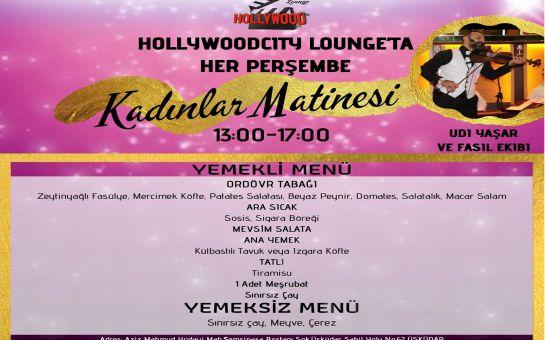 Hollywood City Lounge Üsküdar'da Her Perşembe Canlı Müzik Eşliğinde Kadınlar Matinesi