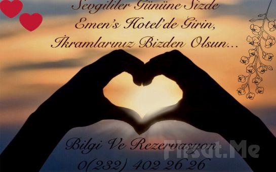 Emen's Hotel İzmir'de Kahvaltı Dahil 2 Kişilik Konaklama Keyfi (Sevgililer Günü Geçerli)