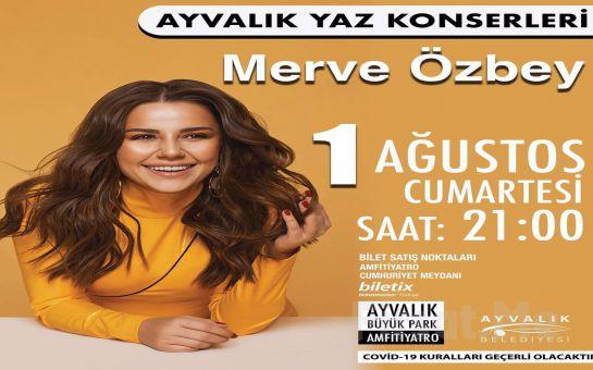 Ayvalık Amfi Tiyatro'da 1 Ağustos'ta Merve Özbey Konser Bileti
