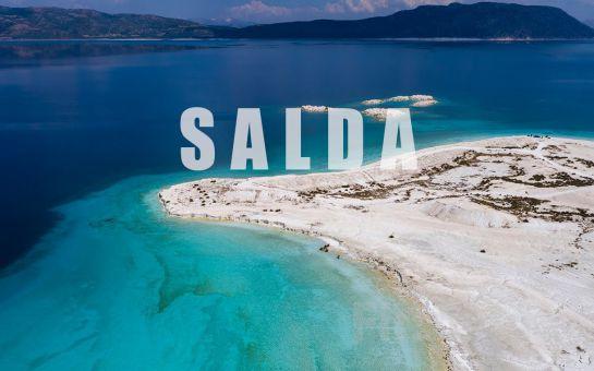Tournetur'dan 1 Gece Konaklamalı Salda Gölü, Pamukkale, Çeşme, Alaçatı, Ilıca Turu
