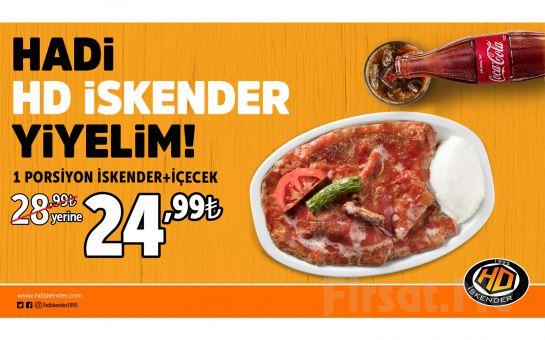 HD İskender Restoranlarında Geçerli, 1 Porsiyon İskender + İçecek Kampanyası