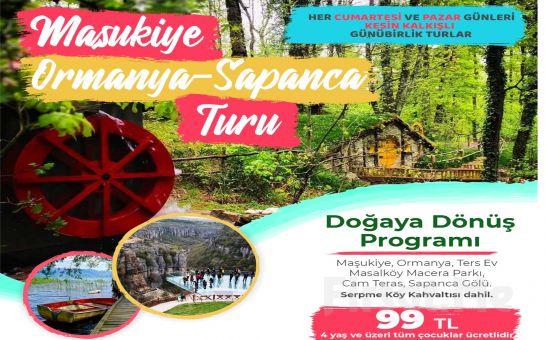 Seyrü Sefa Turizm ile Maşukiye'de Serpme Kahvaltı Dahil Maşukiye, Ormanya, Sapanca Ters Ev Doğa Turu