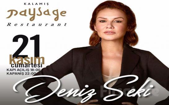 Kalamış Paysage Restaurant'ta 21 Kasım'da 'Deniz Seki' Eşliğinde Limitsiz Yerli Alkollü Akşam Yemeği