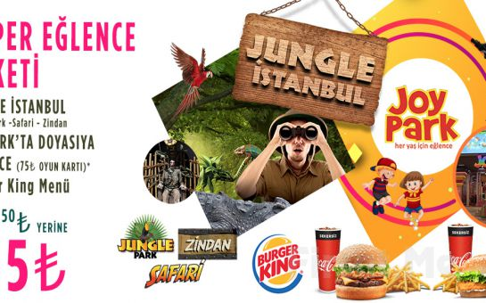 İsfanbul AVM Jungle İstanbul, JoyPark, Burger King Bilet Seçenekleri