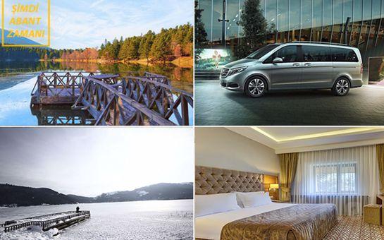 Abant Palace Hotel veya Büyük Abant Otel'de Yarım Pansiyon Konaklama, Evinizden Gidiş-Dönüş VİP Ulaşım Dahil 1 Gece 2 Gün Abant Tatili Seçenekleri