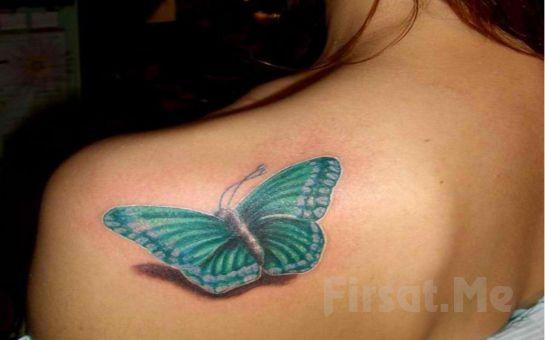 Bakırköy Tattoo Salonu'nda 6 x 6 cm Ebatlarında İstediğiniz Renk Ve Model Minimal Dövme