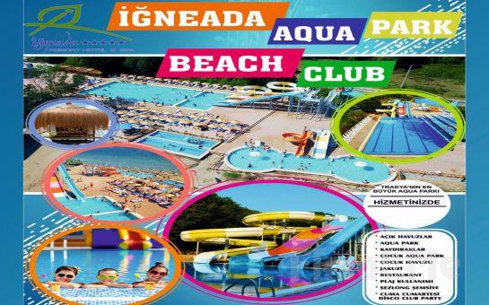 Kırklareli İğneada Aqua Beach Club'ta Aquapark Girişi ve Plaj Kullanımı İle Tüm Gün Sınırsız Eğlence