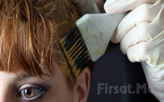 Ataşehir Saloon Fırça'da Nashi Landool Ürünleriyle Dip Boya + Ombre + Saç Kesimi + Saç Bakımı+ Argan Yağı Uygulaması ve Fön Paketi!