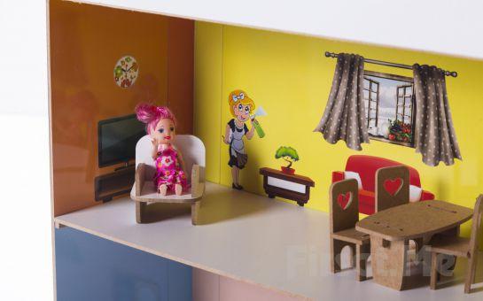 2A Oyuncak'tan Çocuklarınız için Katlanabilir Ahşap Oyuncak Ev