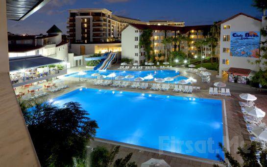 Side Club Bella Sun Hotel'de Gidiş Dönüş Uçak Biletli 3 Gece 4 Gün Herşey Dahil Konaklama