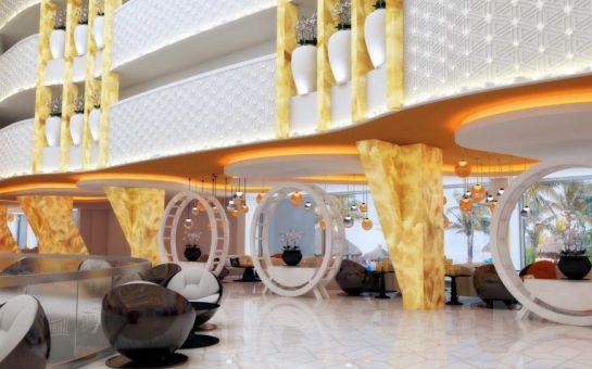 Alanya Sirius Deluxe Hotel'de Gidiş Dönüş Uçak Bileti Dahil Ulta Her Şey Dahil Erken Rezervasyon Tatil Paketleri!