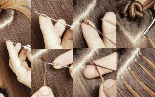 Kozyatağı Styles Kuaför'de 60 cm 150 Adet Boncuk Kaynak Saç Uzatma Uygulaması