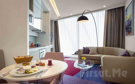 Maltepe Tango Arjaan by Rotana Hotel'de 2 Kişi 1 Gece Konaklama Keyfi, Kahvaltı Seçeneğiyle