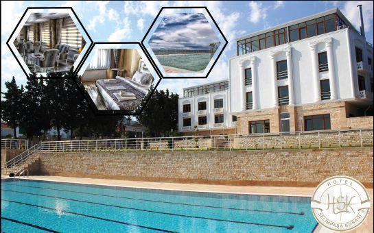 Silivri Selimpaşa Konağı Hotel'de Tüm Gün Açık Havuz Kullanımı, Hamburger Menü veya Açık Büfe Kahvaltı Fırsatı!
