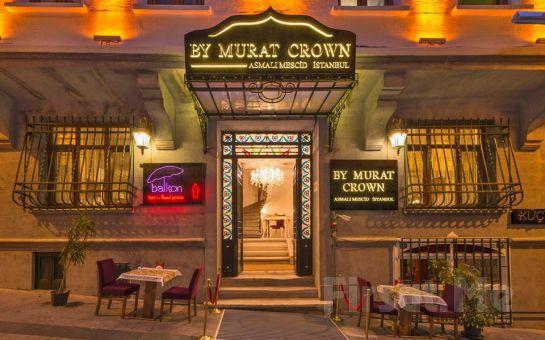 By Murat Crown Hotel Asmalımescit'de 2 Kişi 1 Gece Konaklama Keyfi
