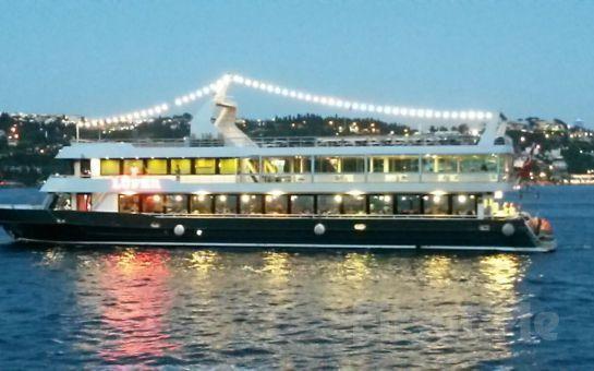 Boğaz'da Muhteşem Fasıl Gecesi Programı Lüfer Tekneleri'nde 3 Saatlik Boğaz Turu, Akşam Yemeği, Fasıl Fırsatı