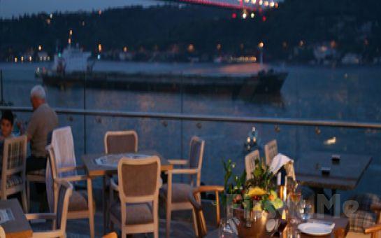 Muhteşem Boğaz Manzaralı Altın Gramofon Restaurant'ta, Fasıl Eşliğinde İçki Dahil Leziz Akşam Yemeği