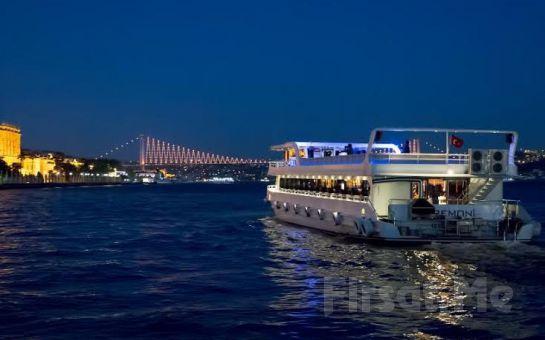 Bosphorus Organization'la Boğaz'da Evlilik Yıldönümü Kutlaması, İçecek Dahil Açık Büfe Akşam Yemeği ve Eğlence!