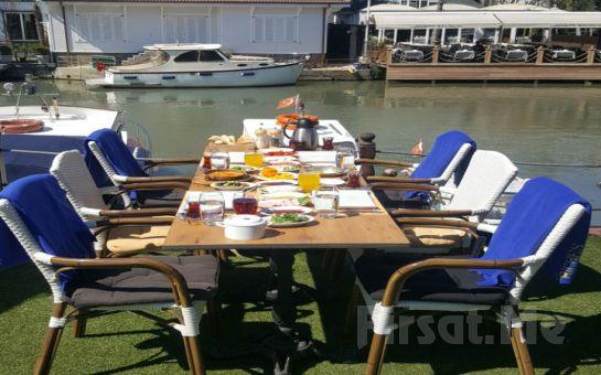 Anadoluhisarı Seria Marin Cafe Restaurant'ta Göksu Nehri Manzaralı Sınırsız Çay Eşliğinde Serpme Kahvaltı Keyfi