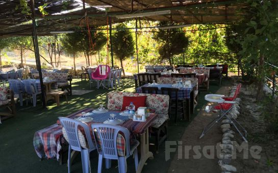 İzmir Çiçekliköy Yeni Asmalı'da Doğa ile Başbaşbaşa Leziz Izgara Tavuk ve Köfte Menüleri
