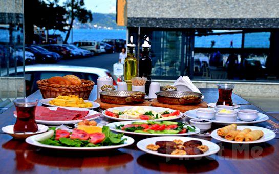 Sarıyer Kireçburnu Cafe'de Sınırsız Çay Eşliğinde Leziz Serpme Kahvaltı Keyfi