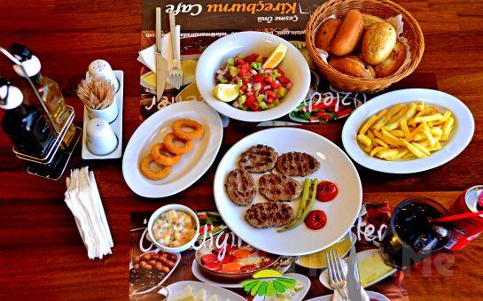 Sarıyer Kireçburnu Cafe'de Leziz Izgara Köfte ve Balık Menüleri