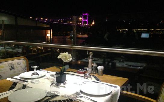 Muhteşem Boğaz Manzaralı Rumeli Hisarı Pruva Restaurant'ta, Canlı Müzik ve Fasıl Eşliğinde Leziz Meyhane Menüsü