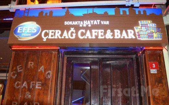 Ortaköy'ün İncisi Çerağ Cafe Bar'da Canlı Müzik Eşliğinde Limitsiz Yılbaşı Eğlencesi ve Enfes Menüsü (Sınırsız İçki Dahil)