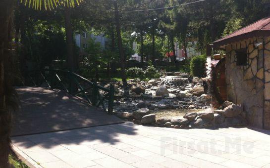 Yeşillikler İçinde Bahçeşehir Hasbahçe'de Karışık Izgaradan oluşan Leziz İftar Menüsü