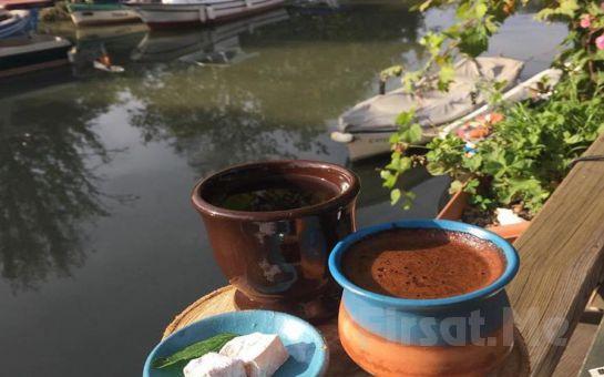 Çömlekçi Hasan Usta'da Göksu Nehri Kenarında Çömlekte Köy Kahvaltısı keyfi