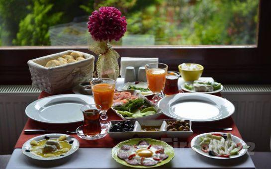 Nehir Kenarında Ağva Sweet Home River Otel'de Sınırsız Çay Eşliğinde Serpme Köy Kahvaltısı