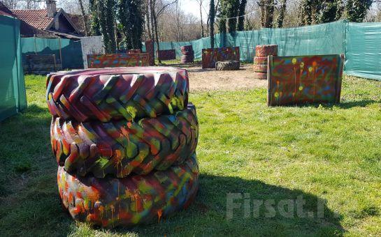 Ağva Shalale Paintball'da 75 Kapsüllük Paintball Oyunu, Tüm Ekipmanlar
