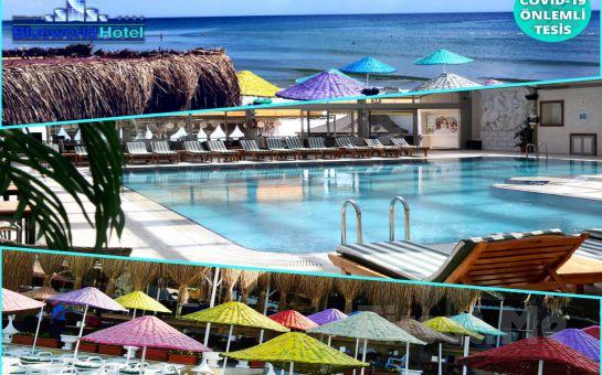 Denize Sıfır Kumburgaz Blue World Hotel'de İki Kişilik Konaklama, Açık Büfe Kahvaltı ve Spa Merkezi Kullanımı